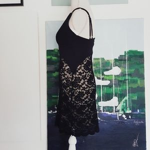 Free People Dresses - NWT FREE PEOPLE BLACK LACE BODYCON DRESS